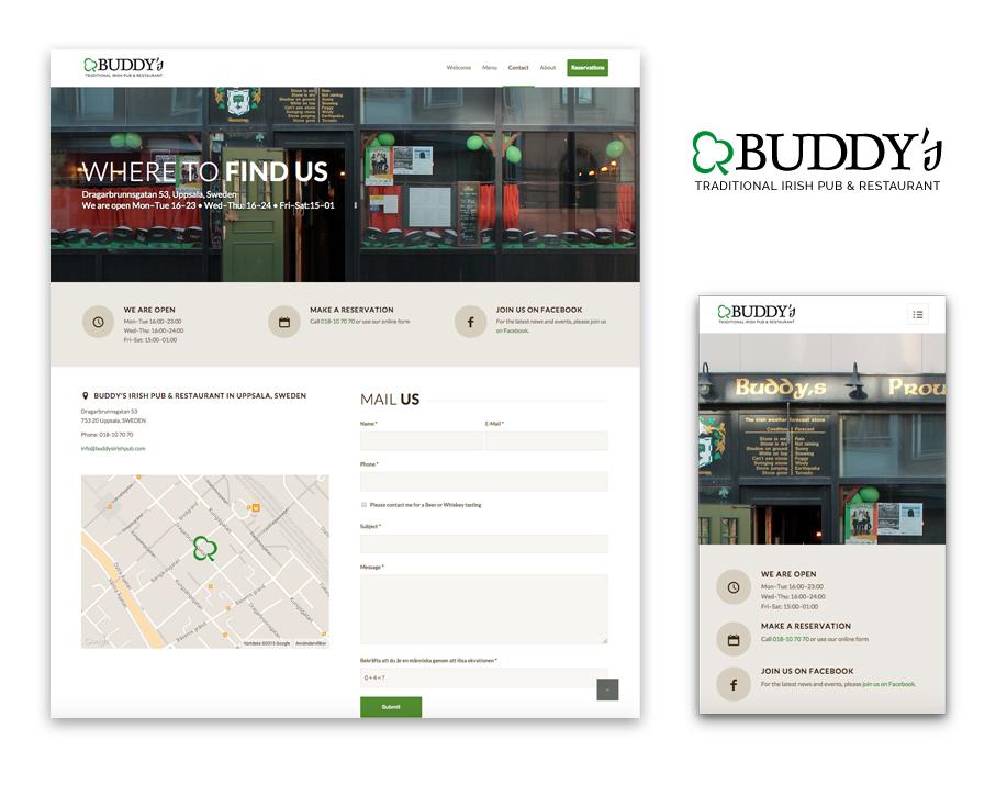 Buddy's hemsida