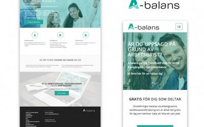 Apparenza skapar ny hemsida och grafisk profil för A-Balans