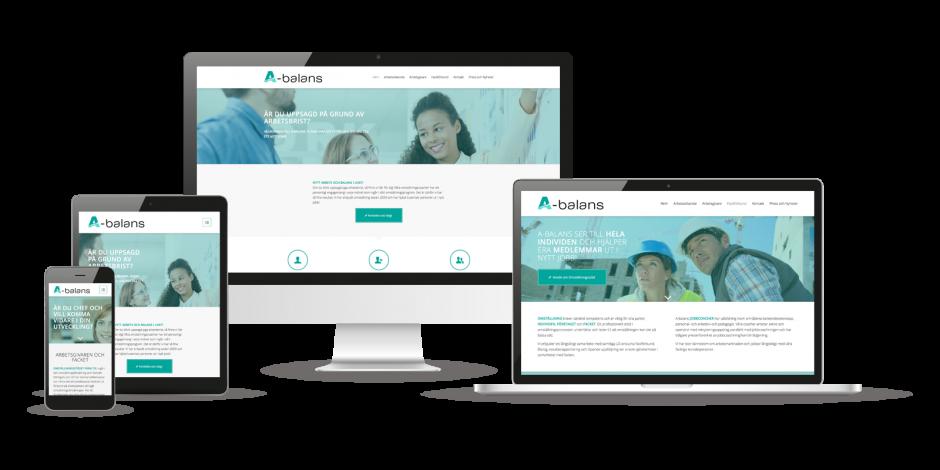 Design av hemsida till A-Balans