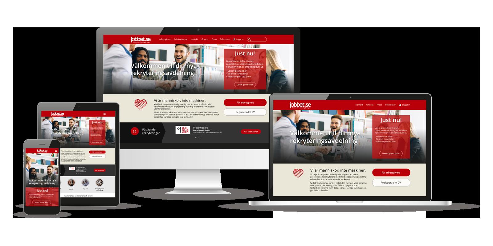 Design av hemsida till Jobbet.se